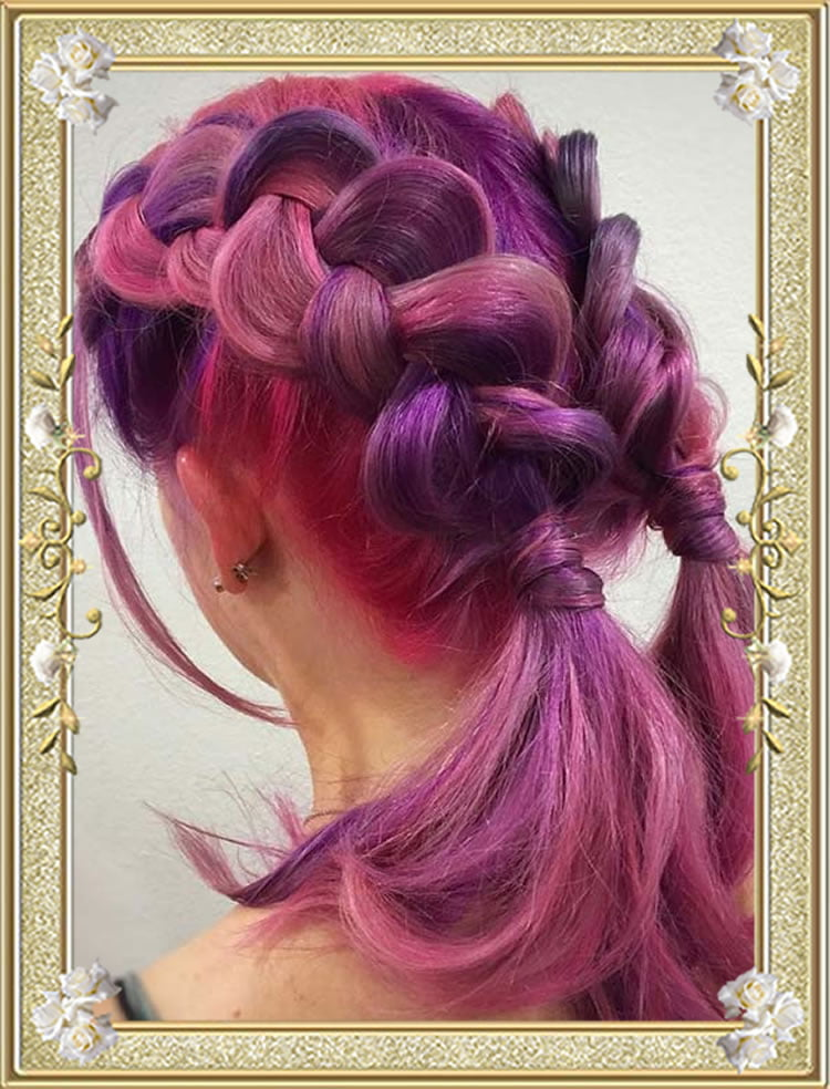 Red Double Dutch Colored Braided Hairstyles
