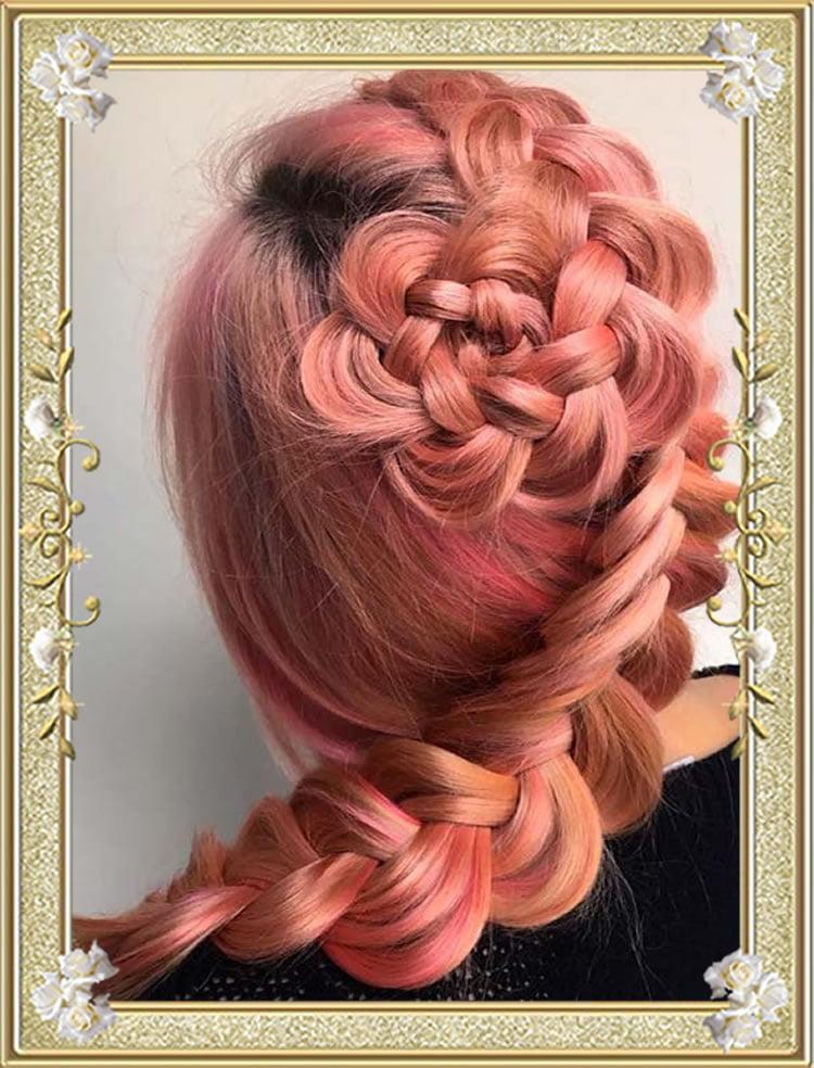 Rosette Dutch Braided Hairstyles