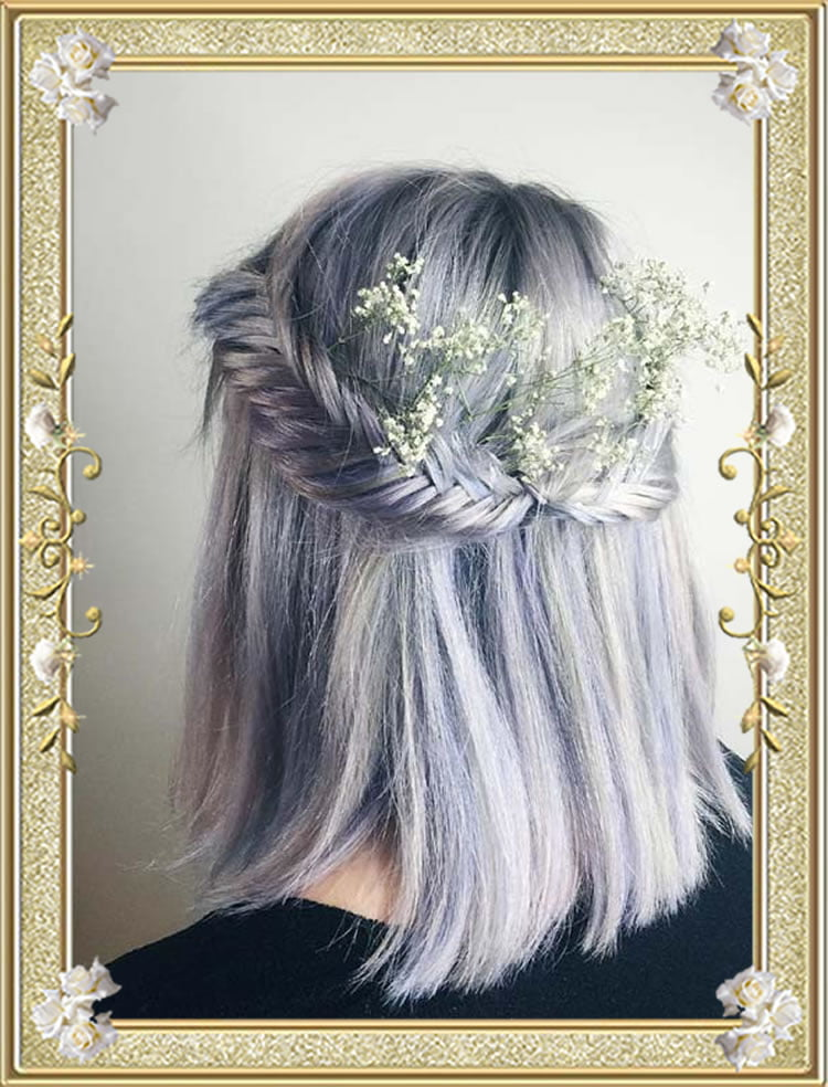 Silver Fishtail Braided Hairstyles