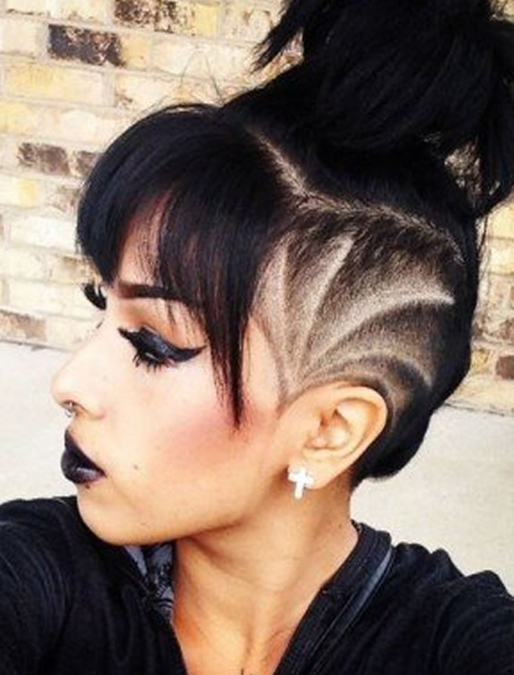 Undercut Hairstyle Ideas with Shapes for Women's Hair in ...