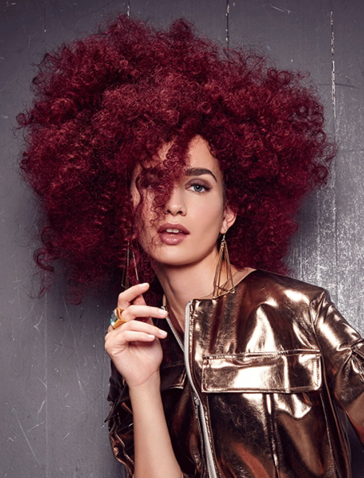 Stylish Messy red perm hair for women 2017