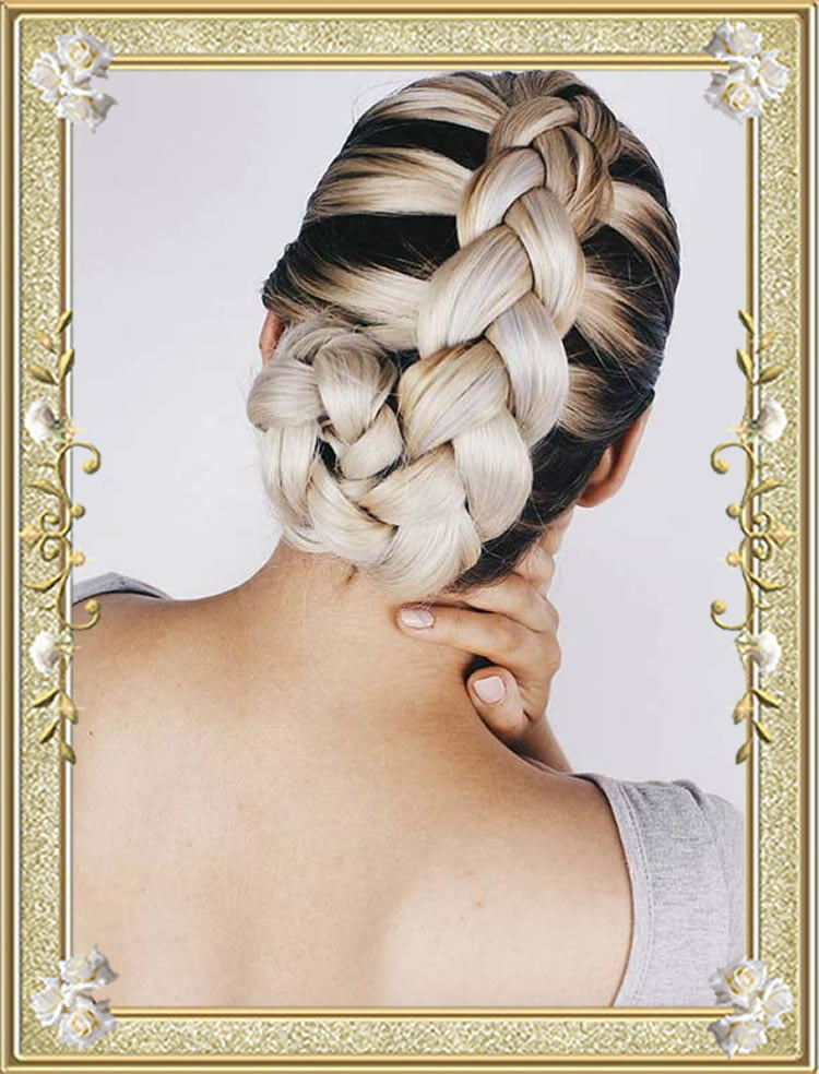 Summer 2017 French Braided Updo Hairstyles