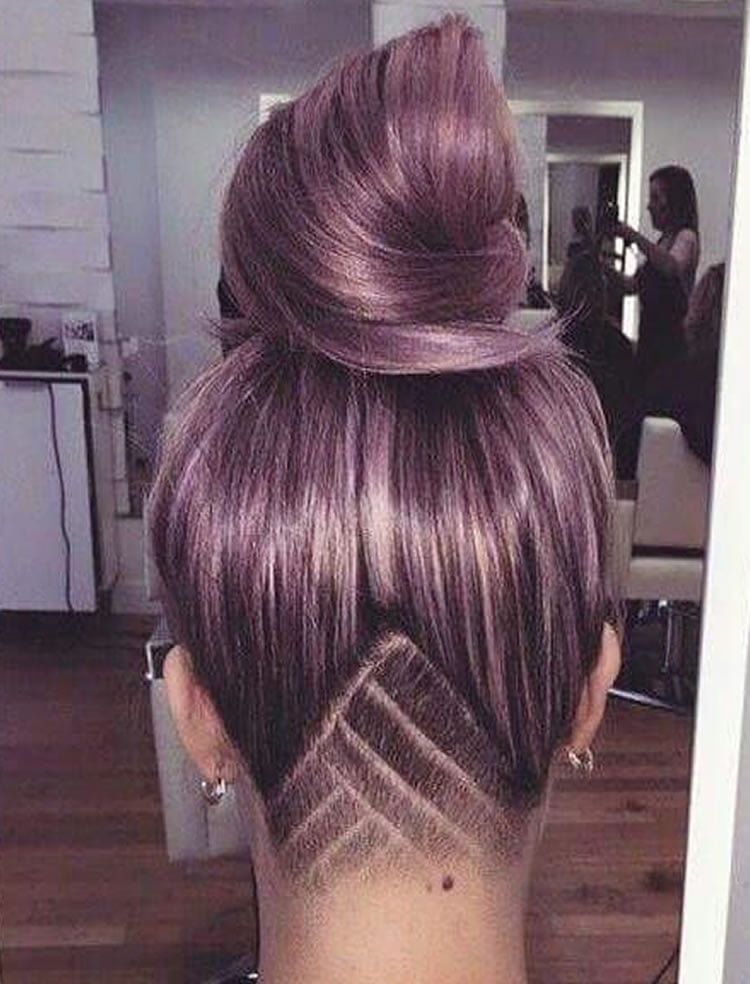 Unique undercut long hair female – HAIRSTYLES