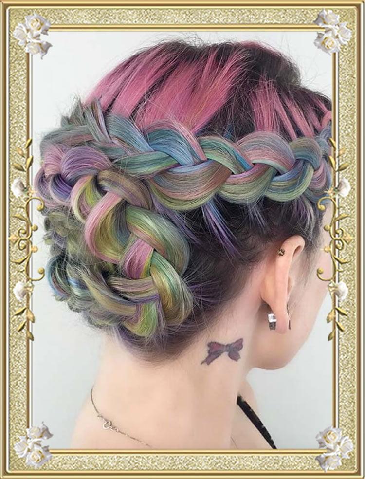 Wraparound Updo Braided Hairstyles