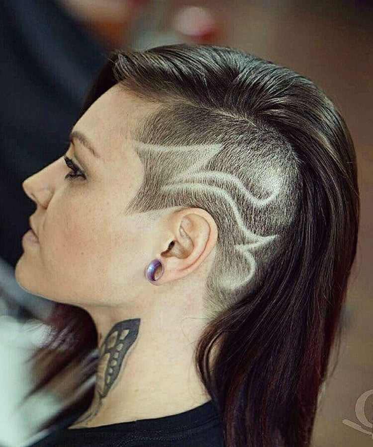 Undercut Hairstyle Ideas With Shapes For Womens Hair In 2018 2019
