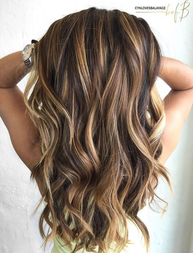 Balayage Chocolate Ombre Hairstyles for Long Hair