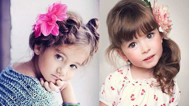 Beautiful hair style for little girls