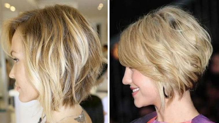 Blonde Layered Bob Haircuts for Women over 40