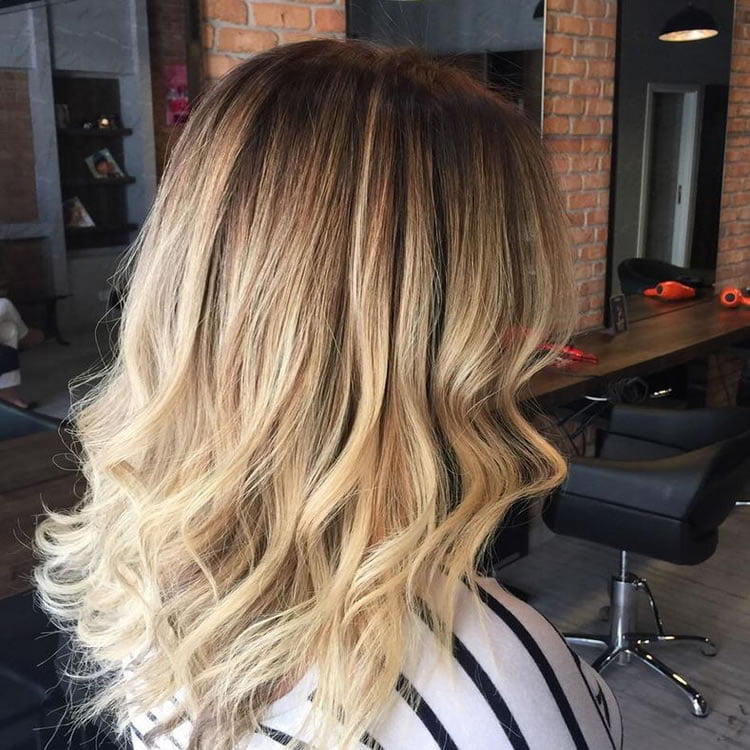 Blonde Ombre Color 2017 for Medium Hairstyles