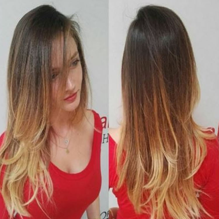 Blonde ombre color 2017