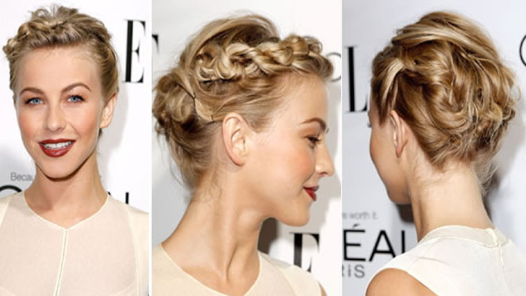 Braided Bun Hairstyles for Blonde Women