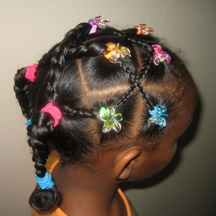 Fabulous hairstyles for long hair black kids