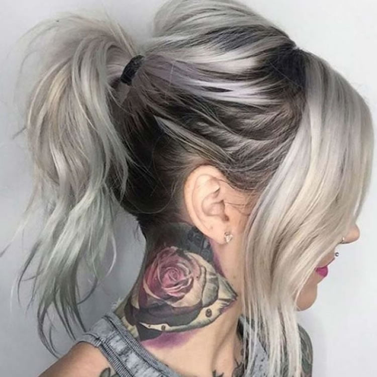 Fantastic Grey Ombre for Ponytail Hairstyles 2017