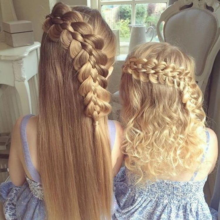 Glamorous little girl braided hairstyles