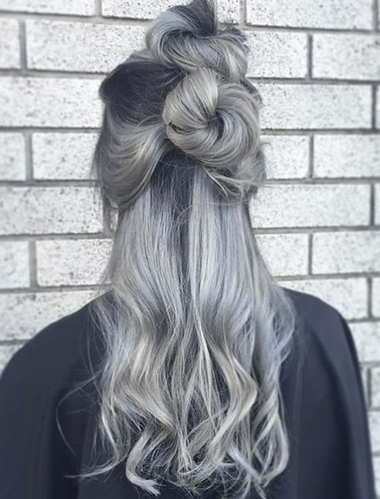 Glorious Grey Ombre With Buns 2017