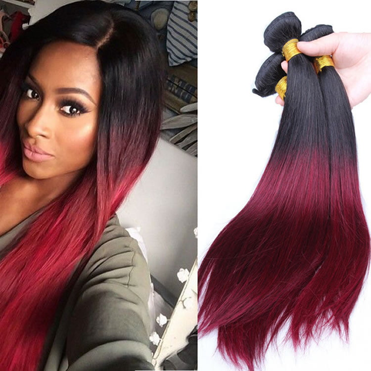 Hottest Ombre Black to Red 2017