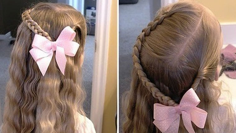 Long braided hairstyles for little girl