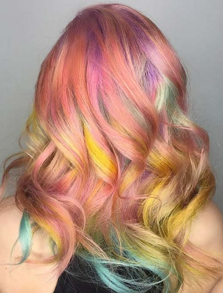 Neon ombre hair colour 2017
