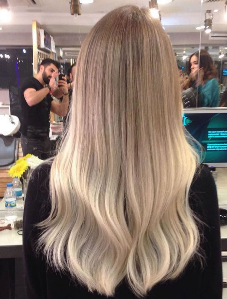 Ombre Blonde Hairstyles for Long Hair 2017