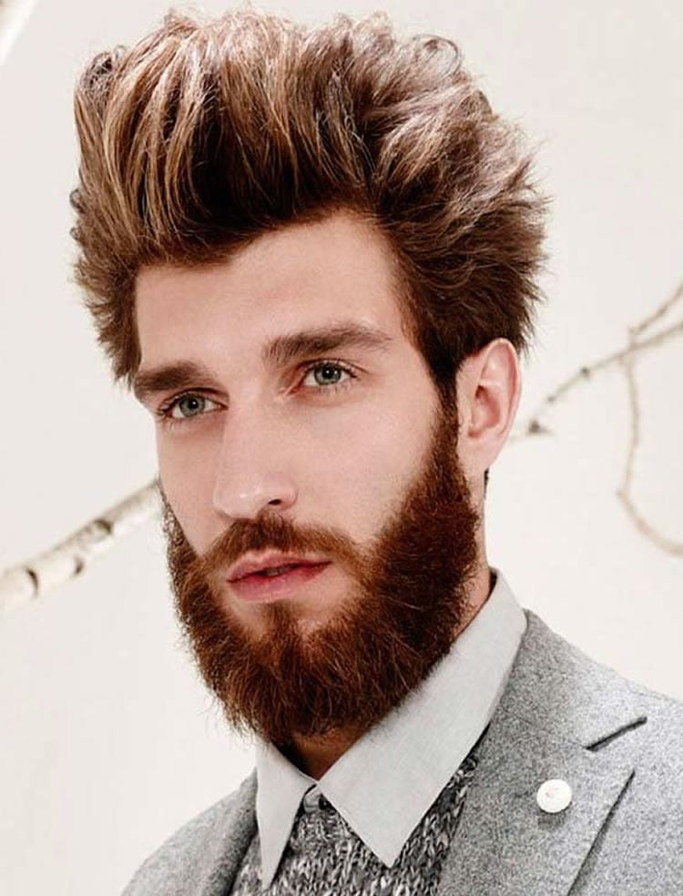 Perfect haircuts with berads for long faces for men