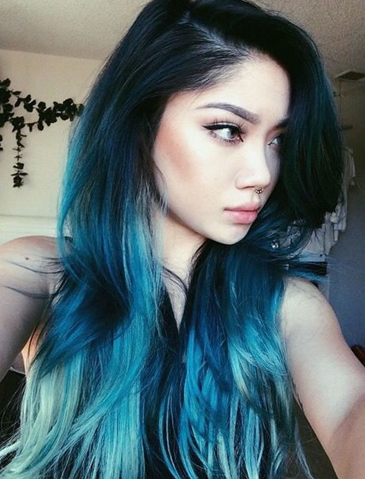 Pictures of Blue Ombre Hair 2017