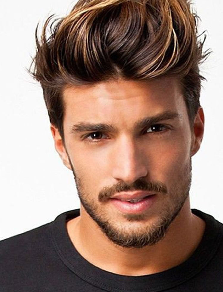 Pretty mens short hairstyles with berads