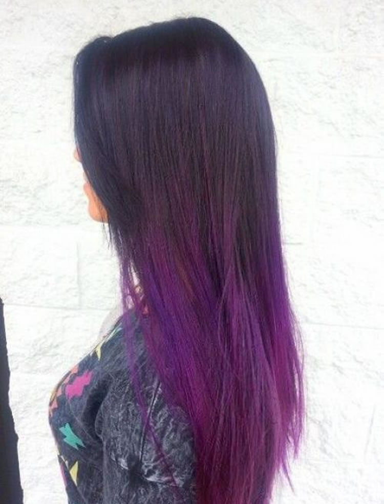 Purple Ombre Hairstyles 2017