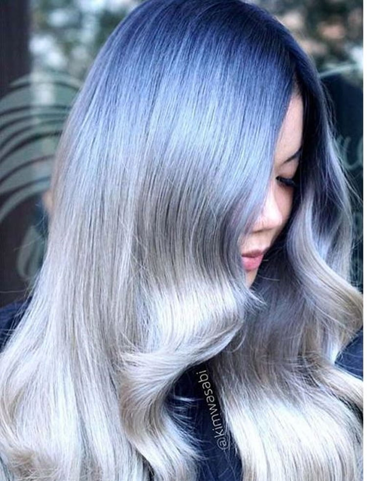 Purple to Grey Ombre hair 2017