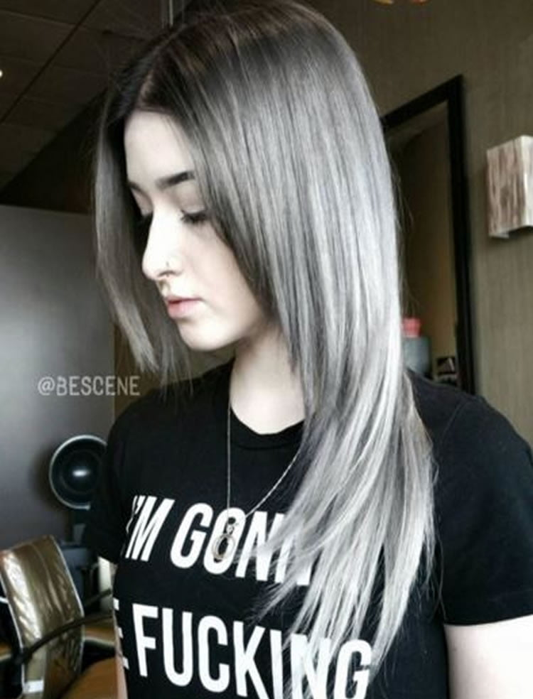 Silver Ombre for Long Hair 2017