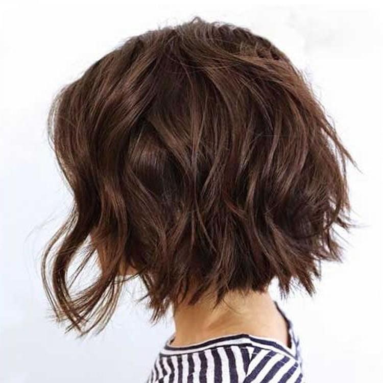 Sleek short bob haircuts for layered hair
