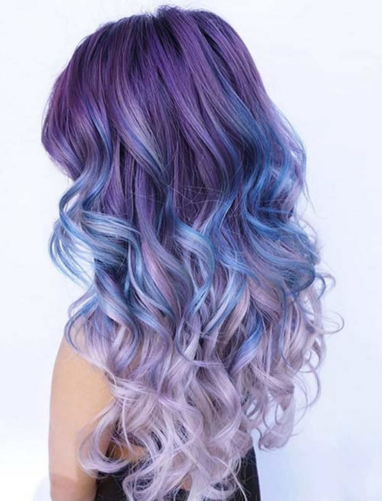 Smart Purple to Pink Ombre Colors 2017 for Wavy Hairstyles