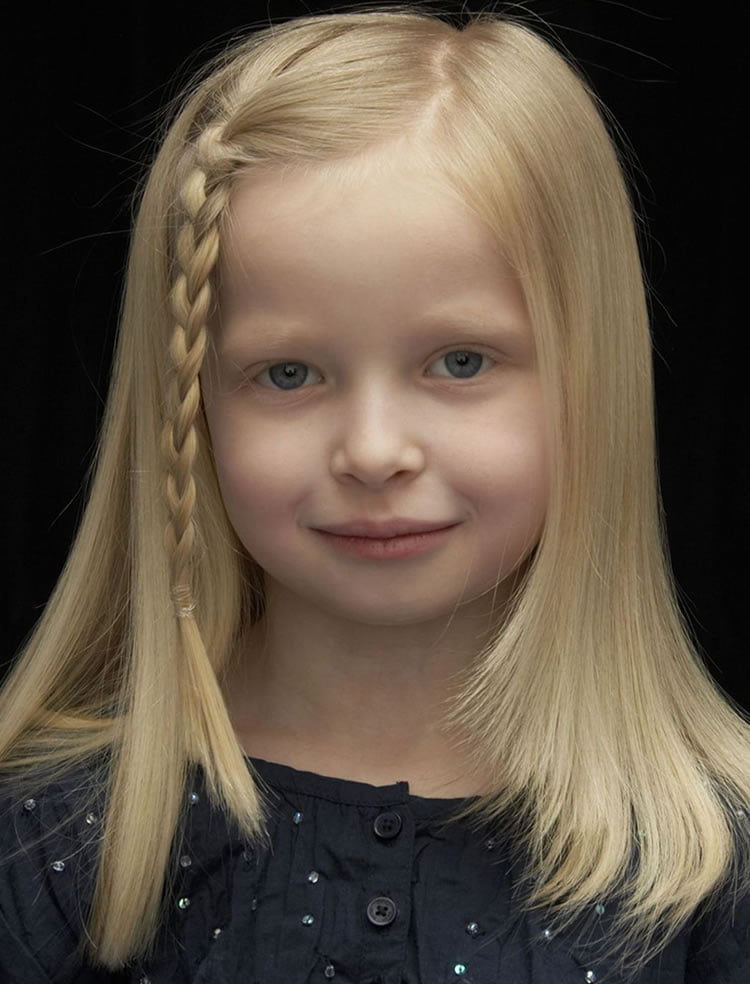 Unique little girl hairstyles for medium hair