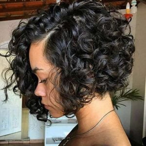 cute curly bob hairstyles african american women 20172018