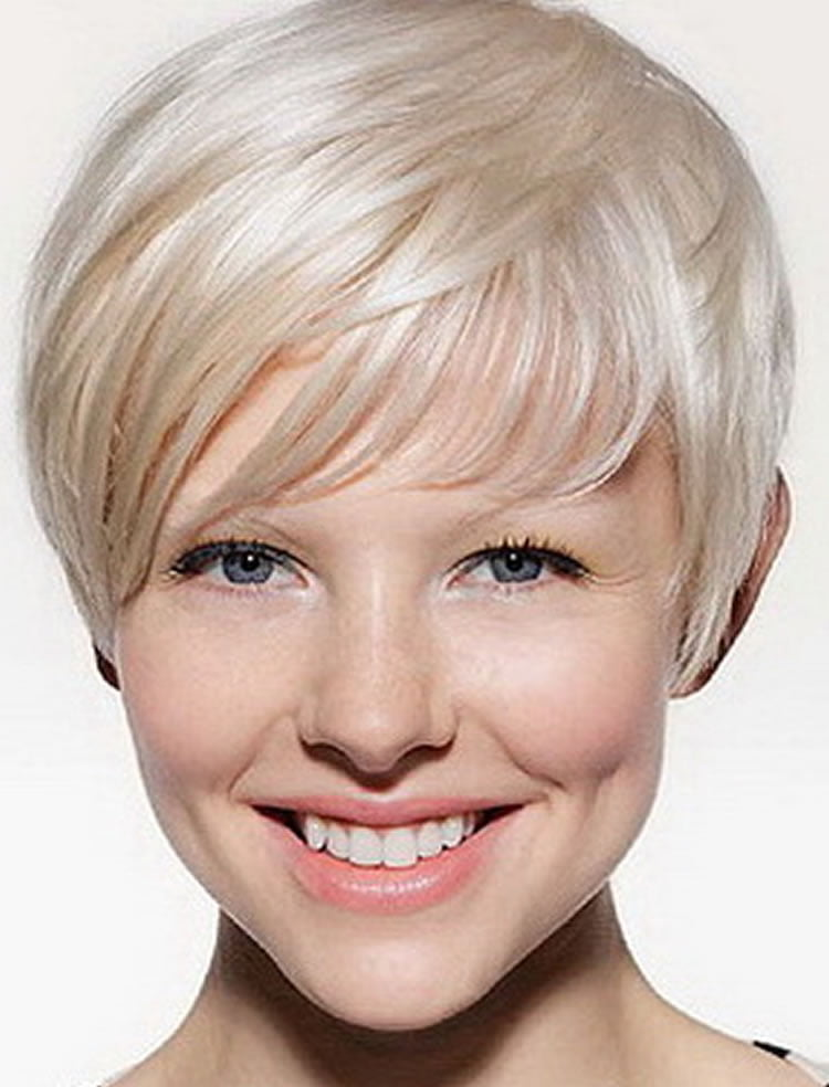 Exquisite Grey Short Hairstyles For Diamond Face Shape Hairstyles