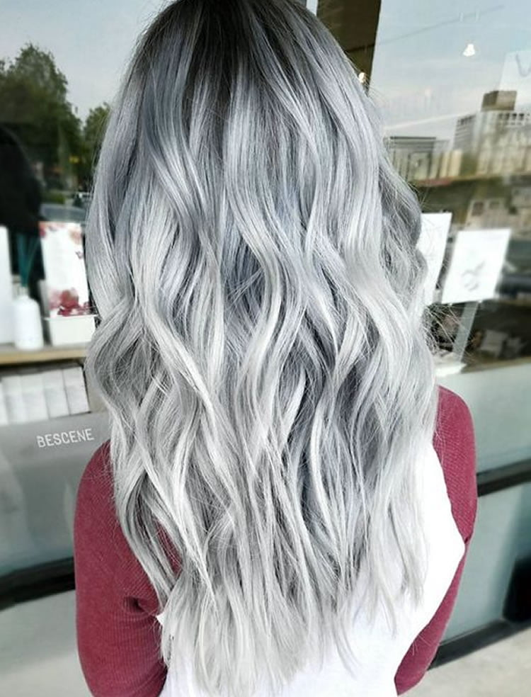 Images of Long Layered Grey Hairstyles 2017-2018 – HAIRSTYLES