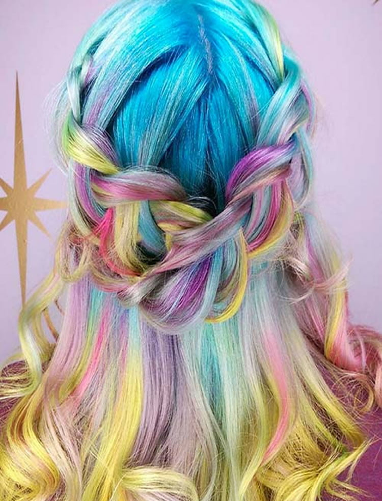 died hair styles 51 colorful hairstyles tutorials for charming 2017 4973