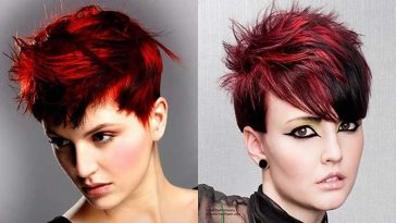 Red Short Hairstyles