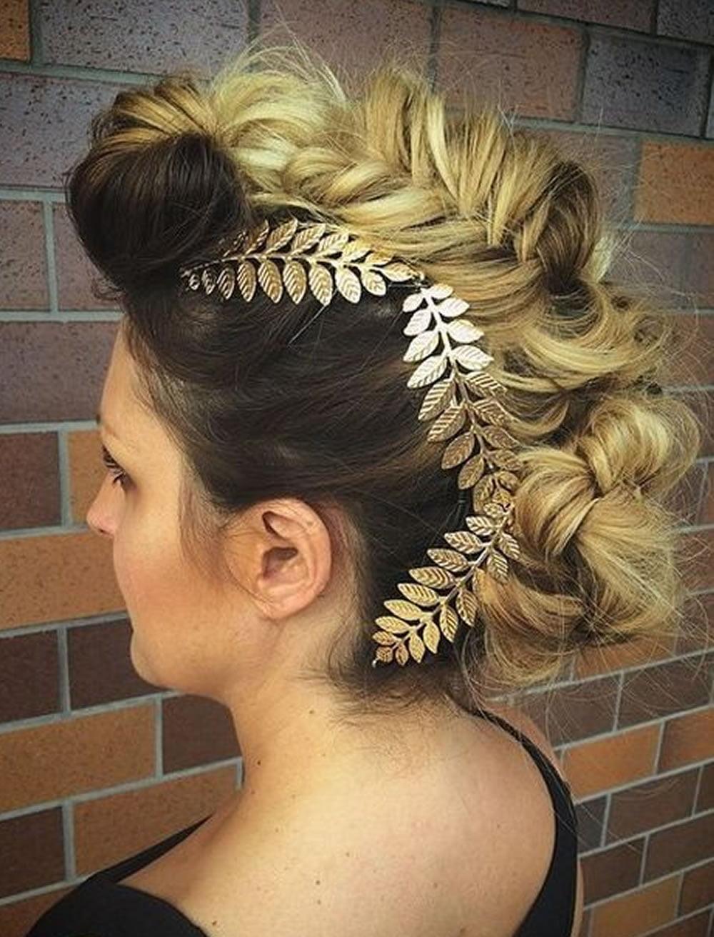 Fishtailed Mohawk Updo Hairstyles