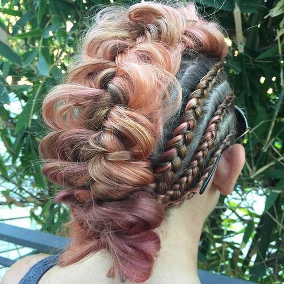 Braided Mohawk Haircuts