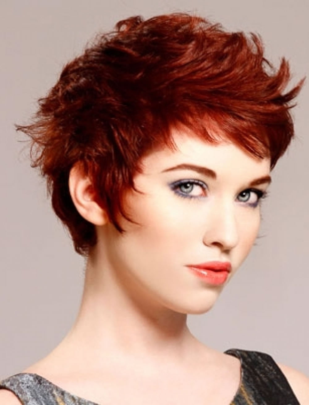 hair styles for women short hair hair color for hairstyles 27 cool haircut 3342 | Magnificent Short Messy Haircuts Red Hair Color for Women 2017