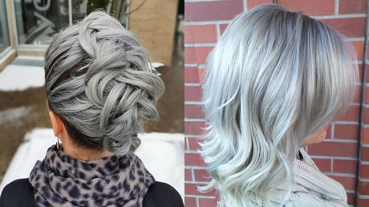 Grey Hair Trend 20 Glamorous Hairstyles For Women 2018 Hairstyles