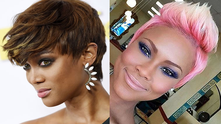 2018 Hairstyle For Dark Hair Color: 2018 Pixie Haircuts For Black Women