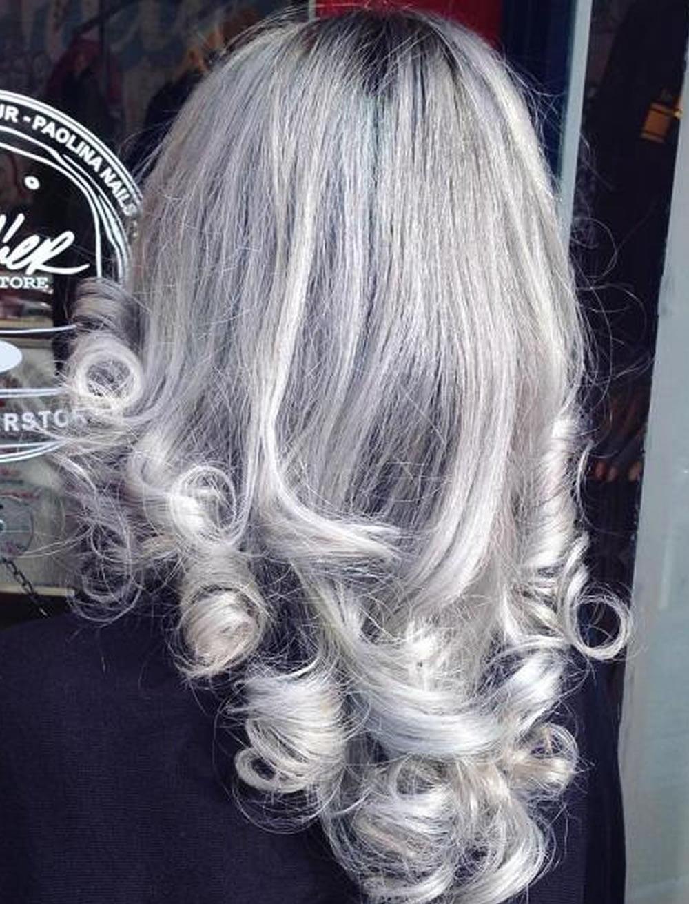 gray hair style ideas