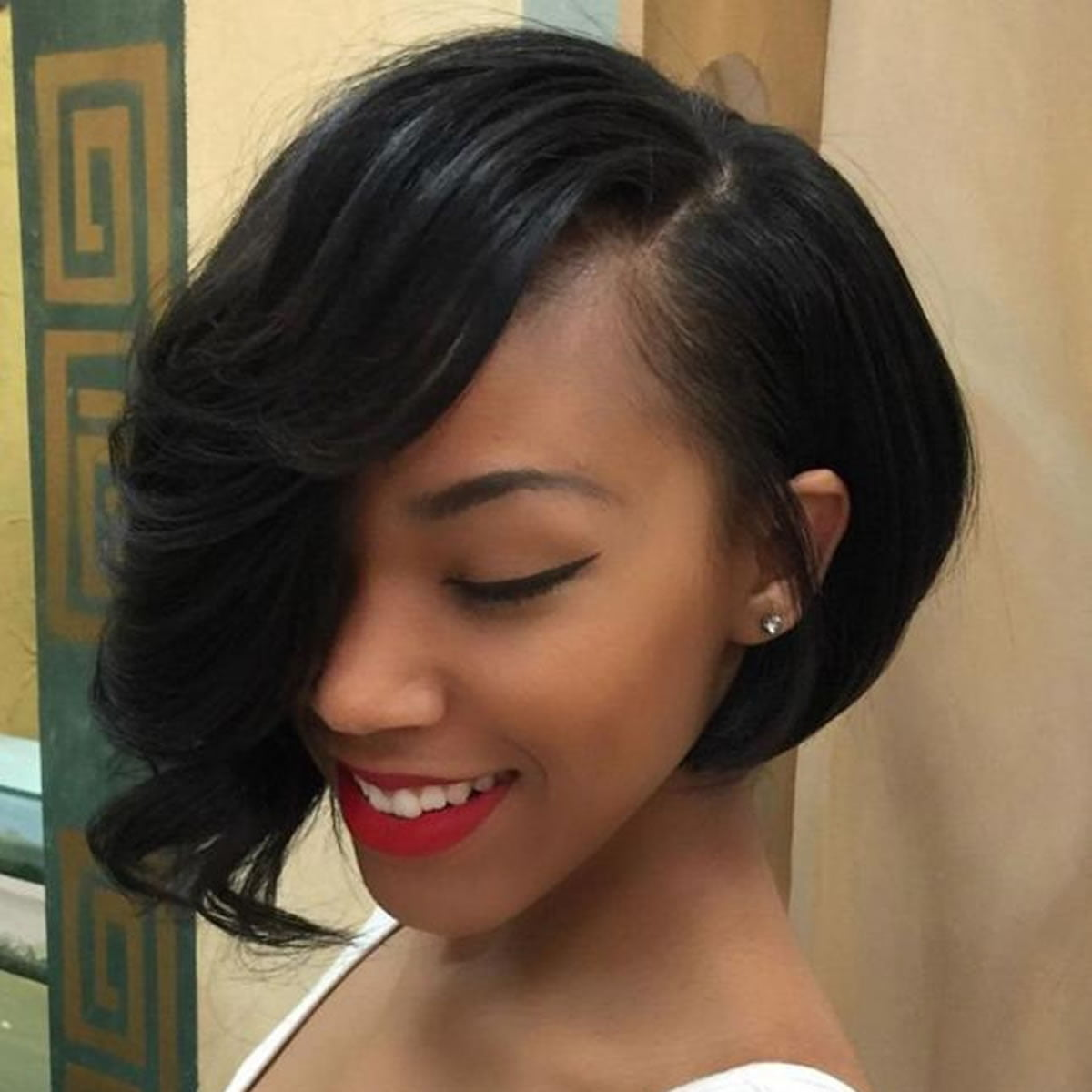 Glamorous Side Long Short Bob Haircuts For Black Women 2018 Hairstyles