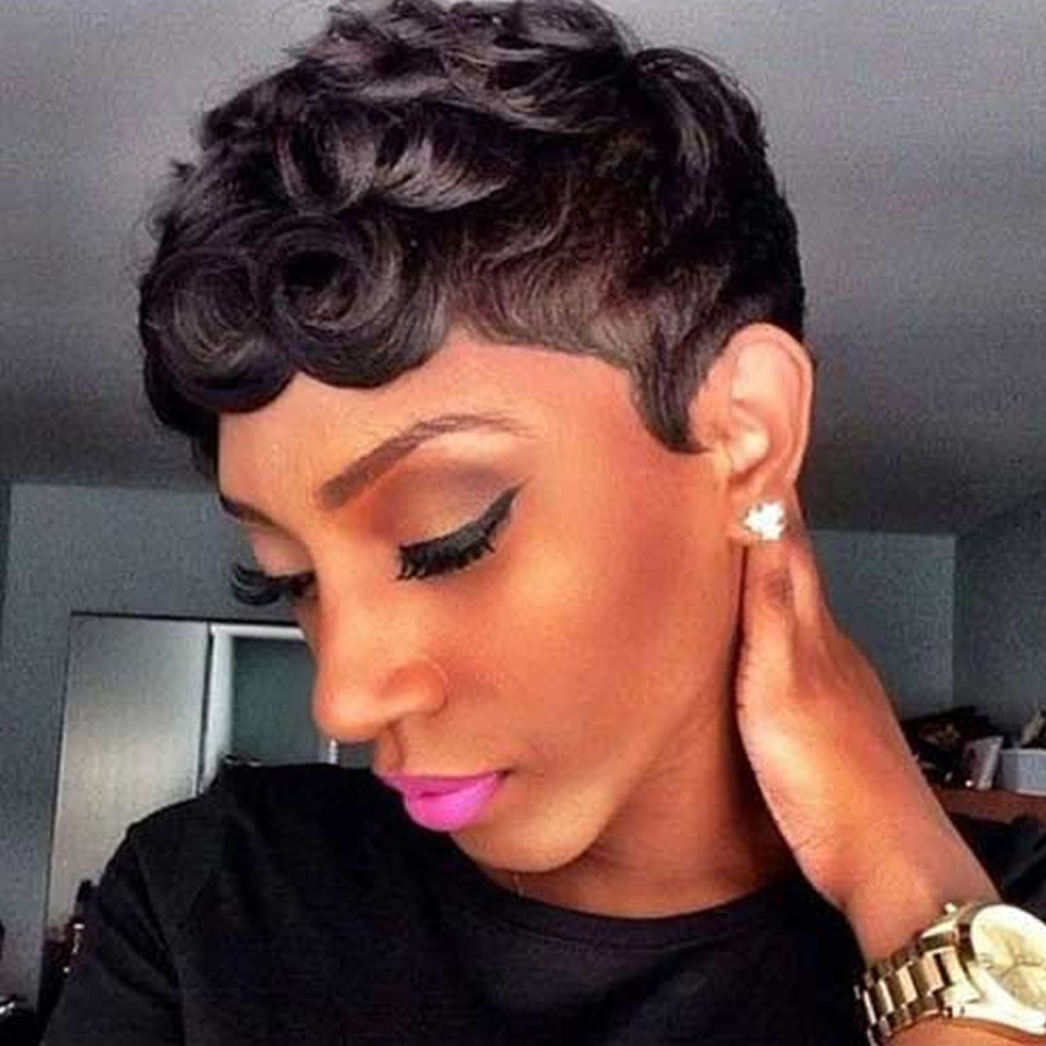 2018 Short Haircuts for Black Women – 64 Pixie Short Black Hair ...