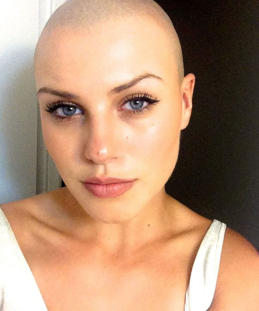 head women haircut shaved Ort