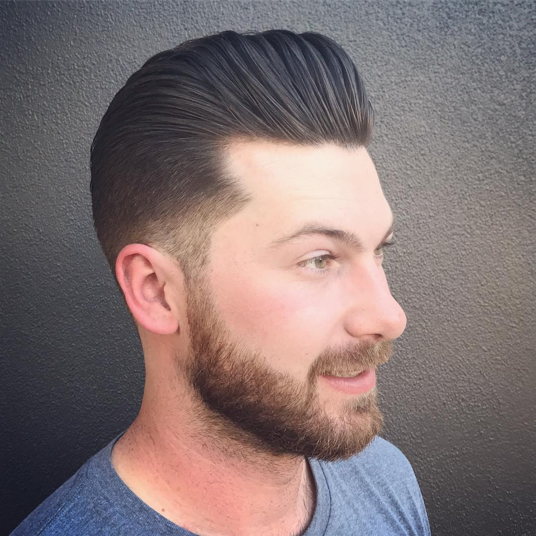 Classic Pompadour Hairstyles+ Beard