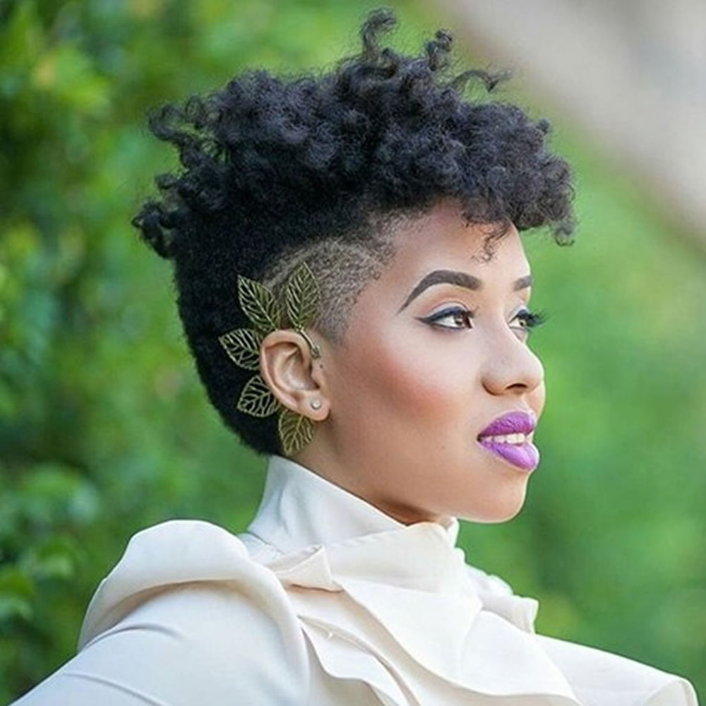 Short Undercut Hairstyle For Black Women With Long Face Hairstyles