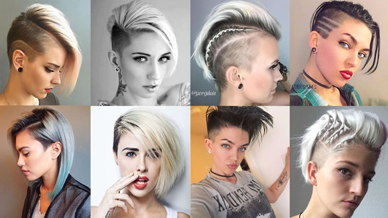 Undercut Short Bob Hairstyles and Haircuts for 2018,2019