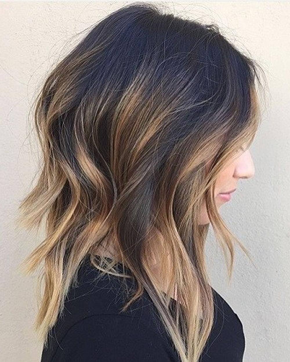 Asymmetrical Short Haircuts With Balayage Highlights 2018